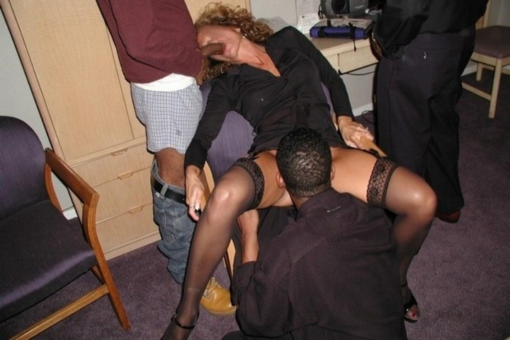 fucked by four black guys and