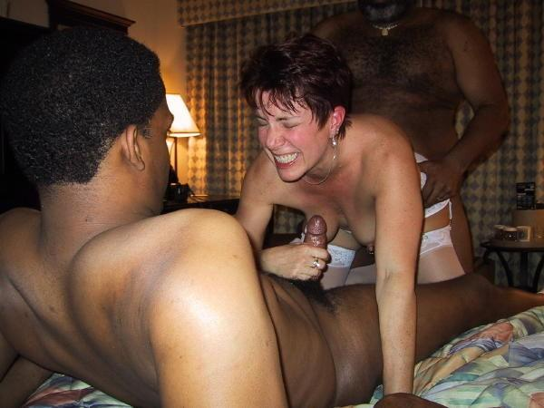 mixed white black cock