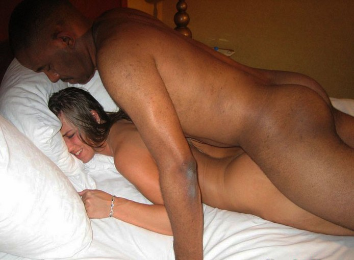 porn black chick on white