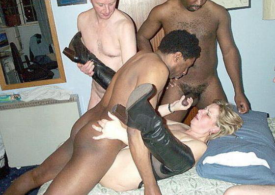 three black cocks and gets