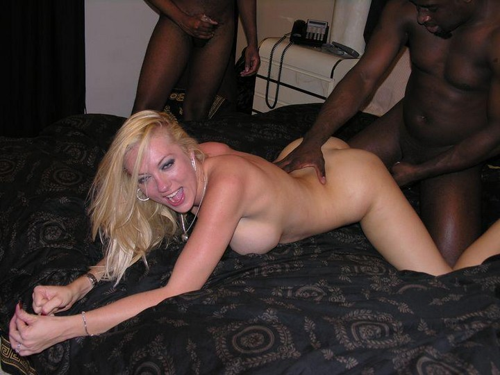 busty blonde black cock